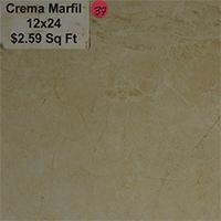 Crema Marfil 12x24