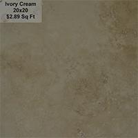 Ivory Cream 20x20