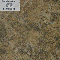 Saddlestone Brown 20x20
