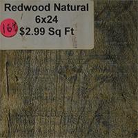 Redwood Natural 6x24